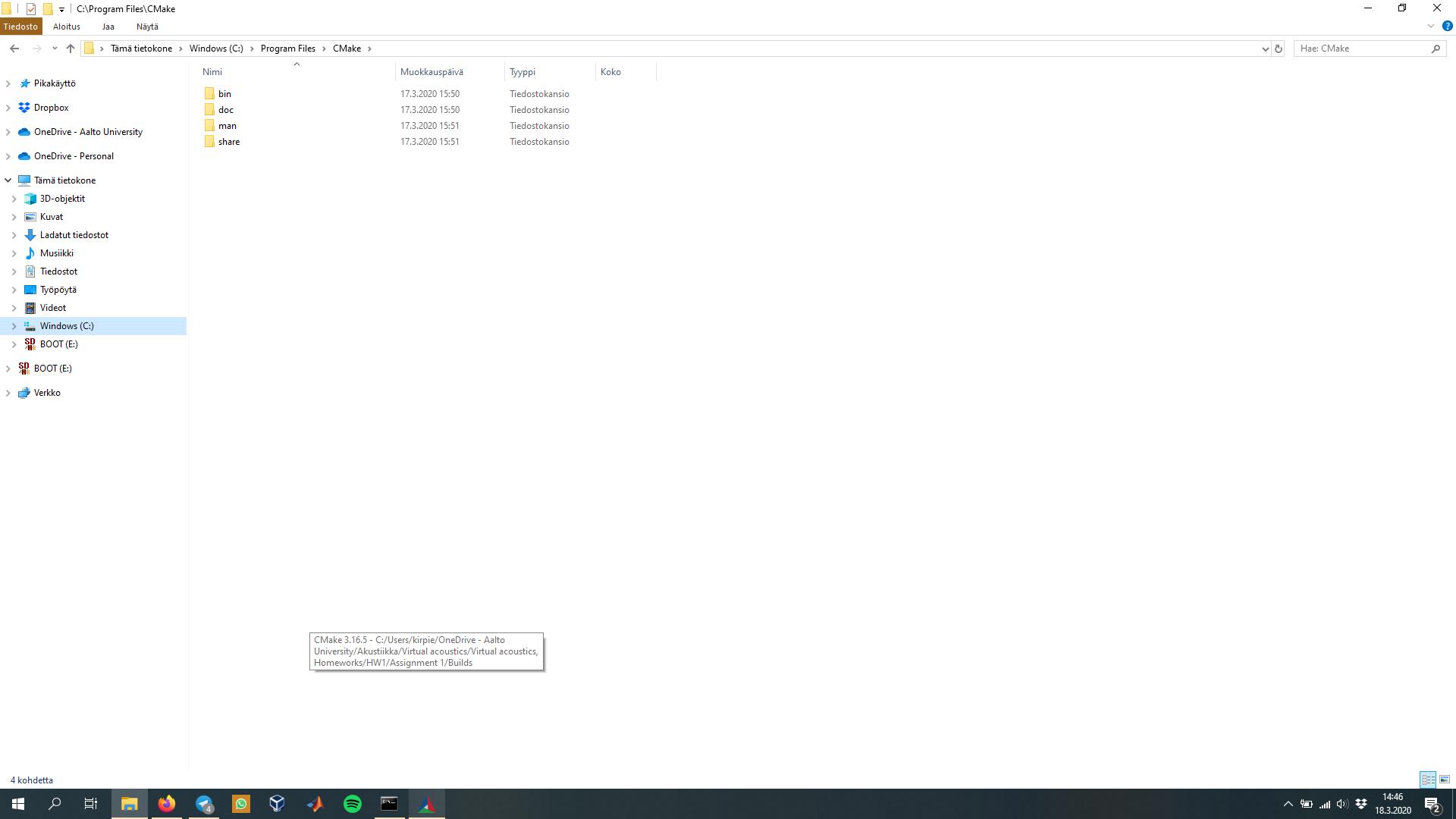 Näyttökuva Windows 10
